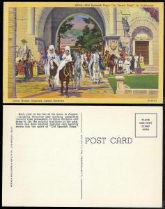 Spanish Days Santa Barbara Court House Grounds CA 1939