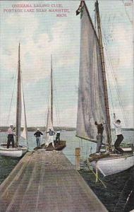 Michigan Manistee Onekama Sailing Club Portage Lake 1912