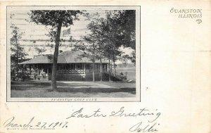 Evanston Illinois 1907 Postcard Evanston Golf Club