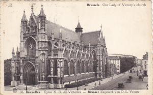 Belgium Brussels Eglise Notre Dame des Victoires 1946