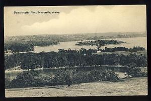 Newcastle, Maine/ME Postcard, Damariscotta River & Island