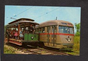 NJ Former Wildwood NJ Trolley Car, former Brooklyn NY New York Trolley Postcard