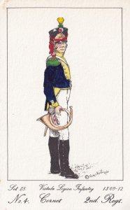 Vistula Legion Infantry Polish Cornet Soldier Napoleonic War Uniform Postcard