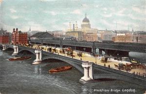 Blackfriars Bridge River Boats Bateaux Pont London