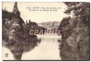 Postcard Old Lyon Park Tete d'Or Lake and Coteau St Clair