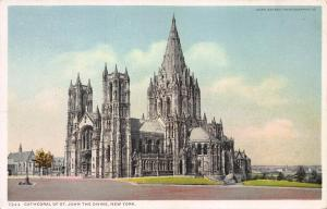 Cathedral of St. John The Devine, New York, N.Y.,  Early Postcard, Unused