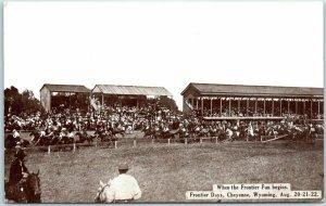 Cheyenne Wyoming FRONTIER DAYS Postcard When the Frontier Fun Begins c1910s