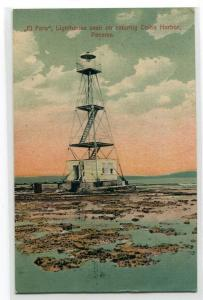 El Faro Lighthouse Colon Harbor Panama 1925 postcard