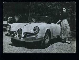 210005 ITALY ROMA Alfa Romeo car & girl photo Grillo postcard