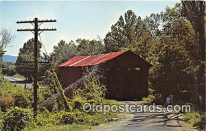 Covered Bridge Vintage Postcard Sandy Creek Covered Bridge Hillsboro, Missour...