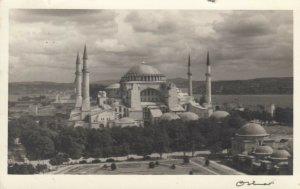 RP: ISTANBUL, Turkey, 1953; the Ayasofya viewed from the Sultan Ahmet Mosque