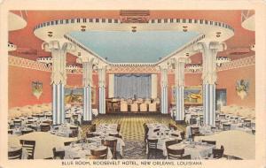 4403 LA New Orleans 1940's Roosevelt Hotel,  Dinning Room Blue Room