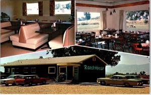 RANCHESTER, WY   RANCH HOUSE Restaurant  1968  60s Cars Roadside  Postcard