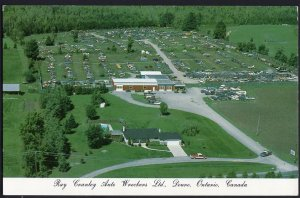 ON Aerial DOURO Ray Cranley Auto Wreckers Ltd Peterborough Chrome 1950s-1970s