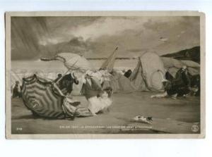 156345 TROUVILLE Beach FOX-TERRIER by ETCHEVERRY old SALON