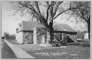 Tyler Minnesota~Dane Bod Stone Hall~Short Tower w/Battlements 1940s RPPC