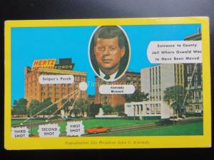 USA: Dallas Texas, President Kennedy's Assassination Site c1964 Pub by G.A.C. Co