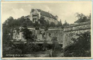 Germany - Nurnberg, Burg von Westen  *RPPC