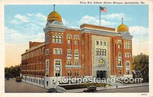 Churches Vintage Postcard Springfield, MO, USA Vintage Postcard Abou Ben Adhe...