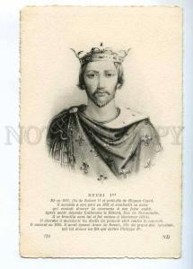 234208 HENRI I King of the Franks Vintage postcard