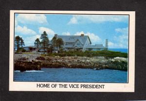 ME President Vice President George H W Bush House Kennebunkport Maine Postcard