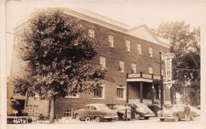 MATANE QUEBEC CANADA HOTEL BERNIER~GREAT CARS~REAL PHOTO POSTCARD 1951