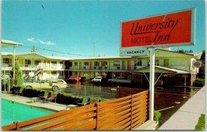 Boulder, Colorado Postcard UNIVERSITY INN Motel / 1632 Broadway c1970s Unused