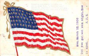 Patriotic Post Card Old Vintage Antique Postcard Flag Unused