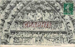 Old Postcard Amiens - Cathedral - The scenes of the Last Judgment
