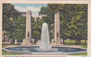 Michigan Grand Rapids World War Veterans Memorial Pillar Fulton Street Park C...