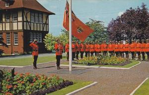 A Troop Of The World Famous Royal Canadian Mounted Police Attending The Tradi...