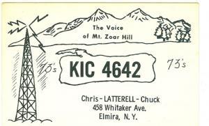 CB QSL - KIC4642, Chris & Chuck Latterell, Elmira NY
