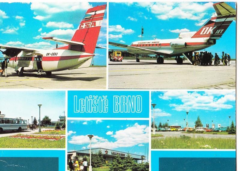 Czech Republic, Letiste BRNO, used Postcard