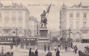 BRUXELLES, Belgium, 1900-1910's; La Place Royale