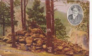 Colorado Colorado Springs Helen Hunt's Grave South Cheyenne Canon Curteich