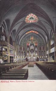 Interior Of Notre Dame Church, Montreal, Quebec, Canada, 1900-1910s