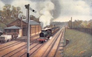Rickmansworth UK Great Central Railway Depot~Manchester Express Train Exits 1910