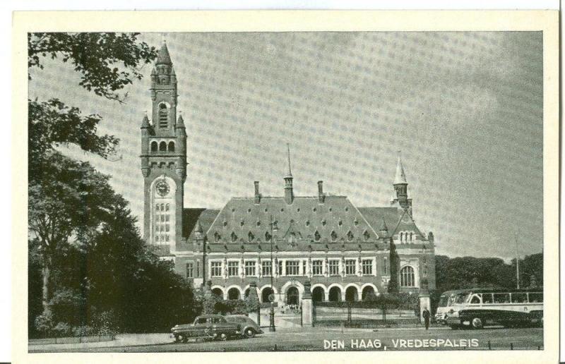 Netherlands, Den Haag, Vredespaleis, 1950s unused Postcard