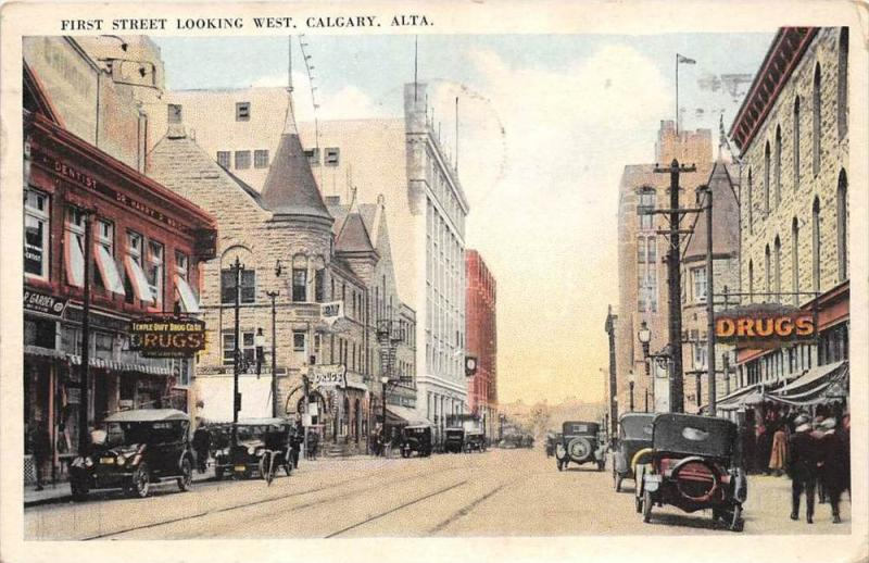 10135   Calgary 1920's  First Street Looking West