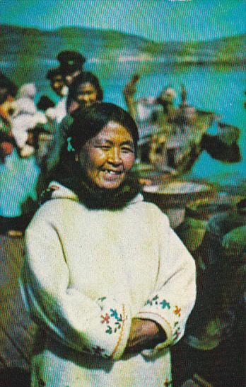 Eskimo Woman Wearing a Parka Nutak Northern Labrador Canada