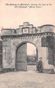 Scotland, UK Old Vintage Antique Post Card Gateway at Abbotsford Old Edinburg...