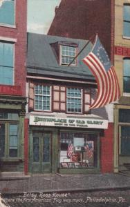 Pennsylvania Philadelphia Betsy Ross House Where First American Flag Was Made...