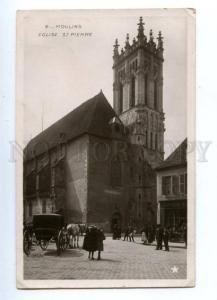144799 FRANCE MOULINS Eglise St.Pierre Vintage photo postcard