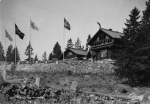 Vintage REAL PHOTO Postcard OSLO Frognerseteren Restaurant NORWAY