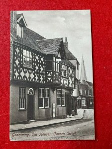 POSTED VINTAGE POSTCARD - OLD HOUSES CHURCH STREET GODALMING SURREY UK (KK93)
