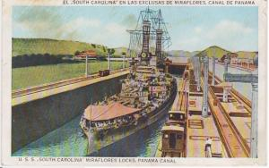 USS SOUTH CAROLINA MIRAFLORES LOCKS PANAMA CANAL