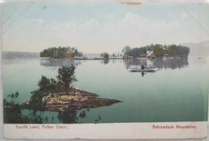 Fourth Lake Fulton Chain Adirondack Mountains NY Undvd Back