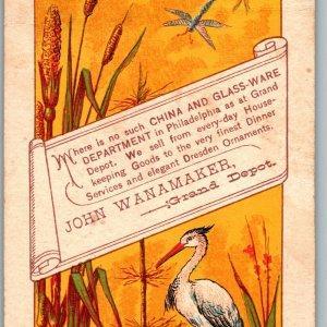 1878 John Wanamaker Grand Depot Philadelphia PA Louis Prang Dresden Advertising