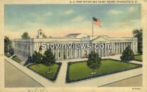 US Post Office Charlotte NC Unused