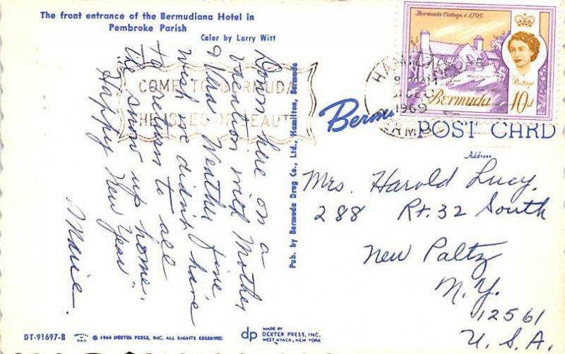 Front Entrance of the Bermudiana Hotel Pembroke Parish Bermuda, Somers Isles ...